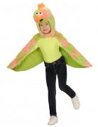 Poncho à capuche oiseau canari enfant