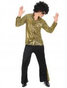 Déguisement disco doré homme