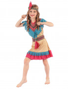Déguisement Indienne colorée fille