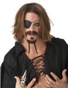 Kit de moustaches pirate brun adulte