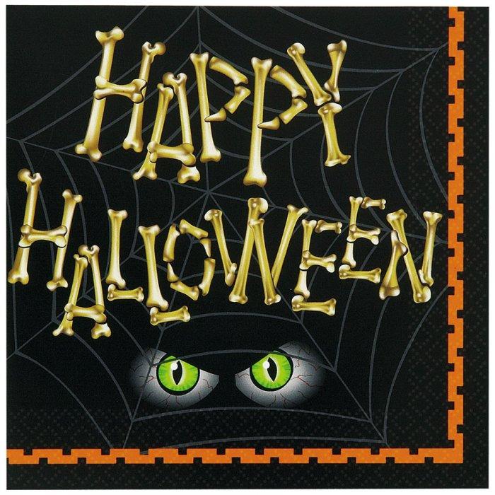 16 serviettes squelette halloween - Deguisetoi fr halloween ...