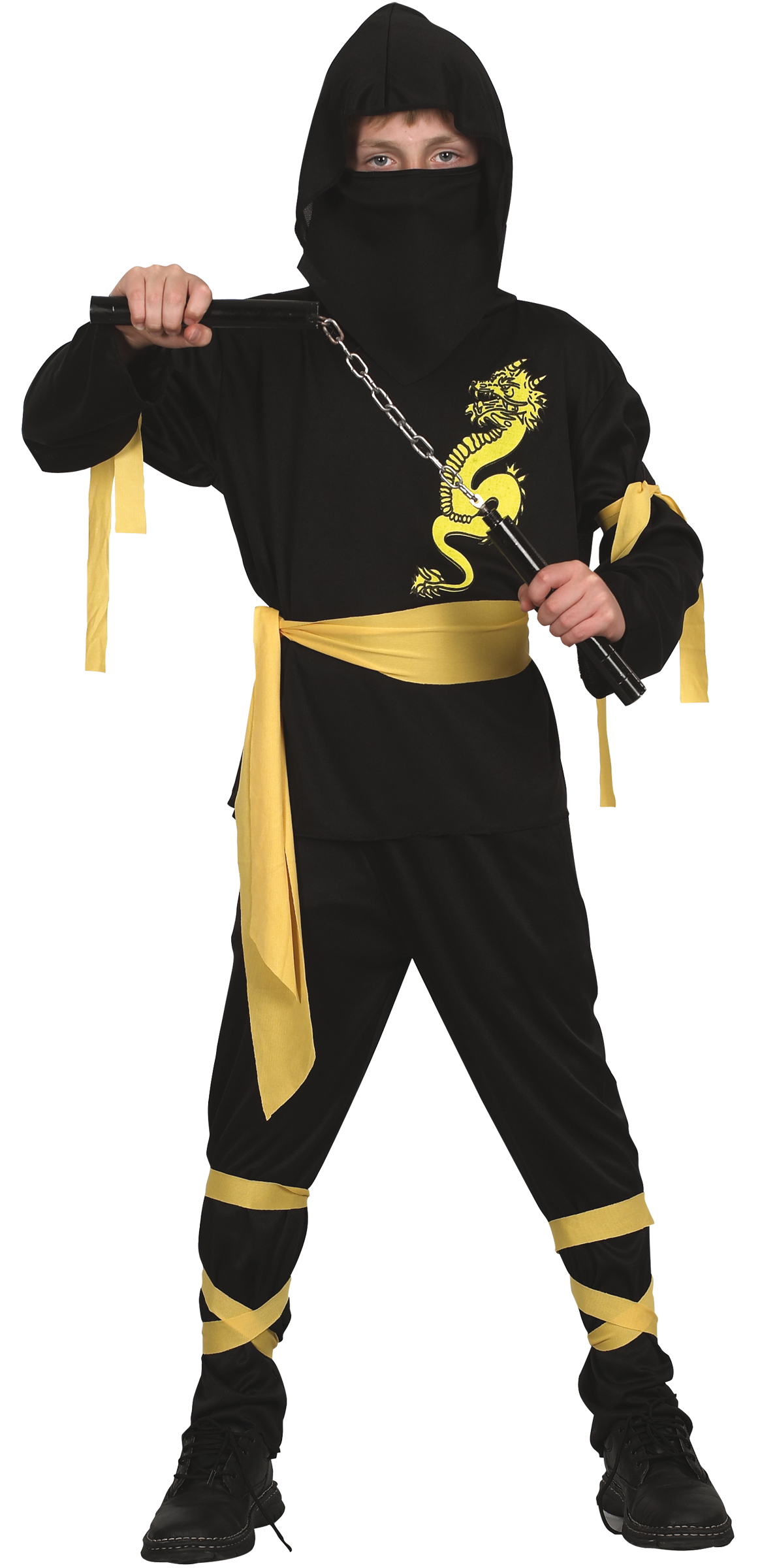 yellow dragon ninja costume for boys. Black Bedroom Furniture Sets. Home Design Ideas