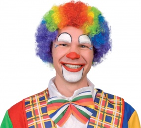 Afro-Per�cke Clown bunt f�r Erwachsene
