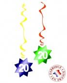 6 D�corations � suspendre spirale 20 ans