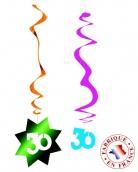 6 D�corations � suspendre spirale 30 ans