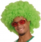 Adult green Saint Patrick afro wig