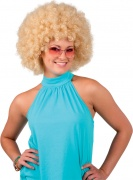 Perruque afro blonde femme