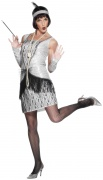 Silver Flapper costume for women
