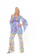 Hippie-Kost�m Flower Power f�r Damen