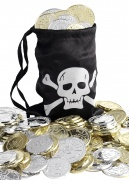 Pirate treasure and pouch