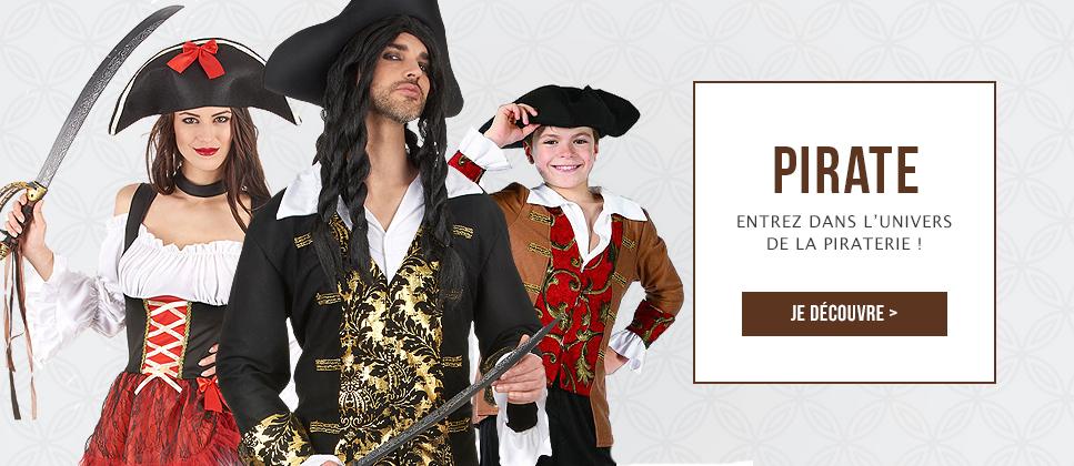 Déguisements et accessoires de pirates