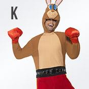 Carnavalskleding met letter K