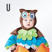 Carnavalskleding met letter U