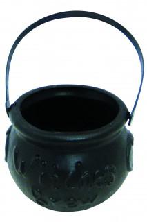 Petit chaudron noir Halloween 10 cm