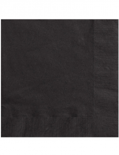 20 Serviettes en papier noires 33 x 33 cm