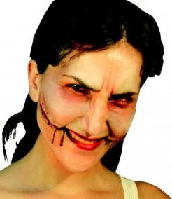 Fausse plaie sourire de l'ange adulte Halloween