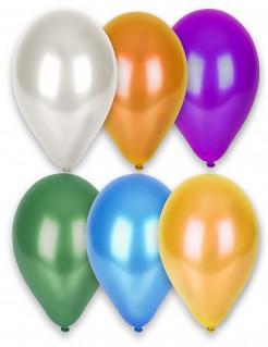 12 Ballons métallisés multicolores 28 cm
