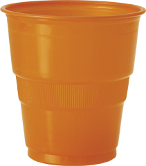 12 Gobelets en plastique orange