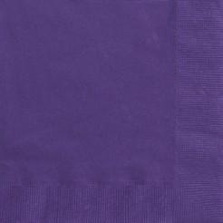 50 Serviettes en papier violettes 33 x 33 cm
