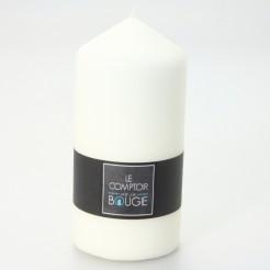 Grande bougie cylindrique ivoire