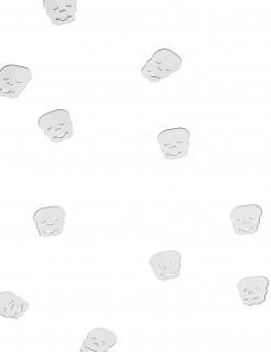 Confettis de table tête de mort Halloween 10 gr