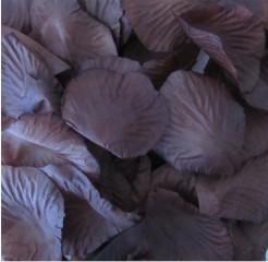 144 Pétales en tissu chocolat