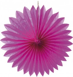 Rosace papier fuchsia 50 cm