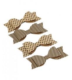 4 Nœuds papillon papier kraft