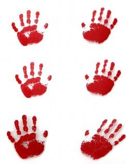 6 Empreintes de mains ensanglantées Halloween