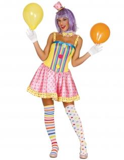 Déguisement clown pastel femme