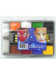 Palette maquillage 8 fards et 6 crayons garçon