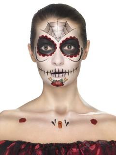 Kit maquillage princesse araignée femme Dia de los muertos