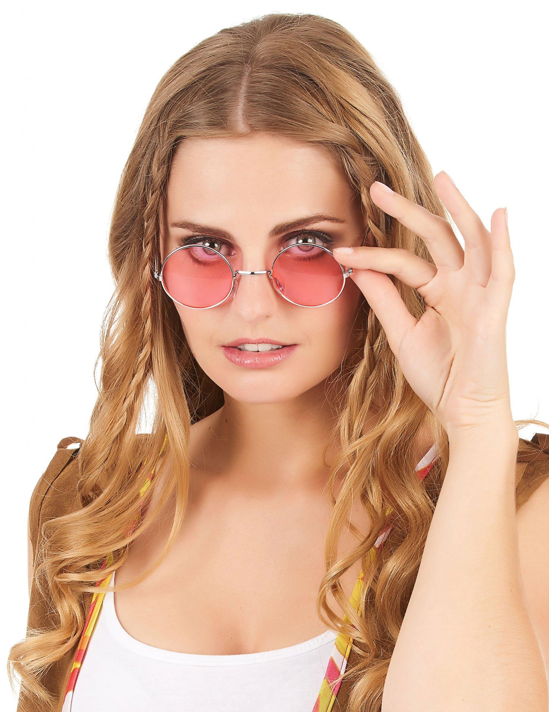 Lunettes rondes de hippie adulte   Deguise-toi, achat de Accessoires ed142f7b6de0
