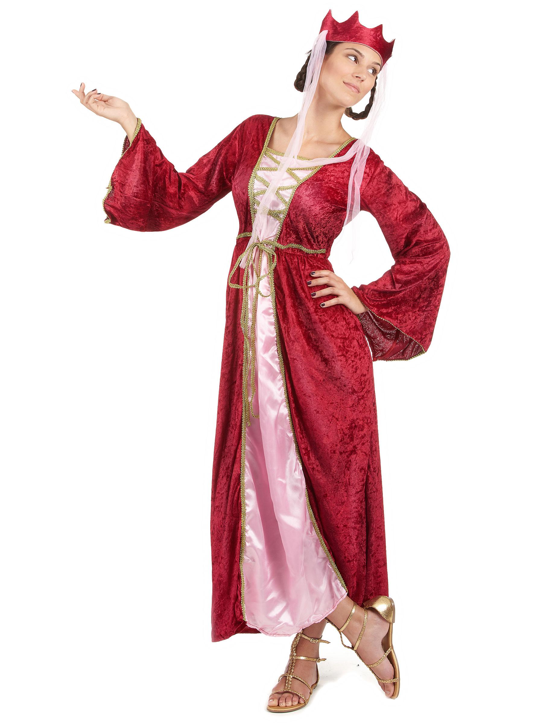 20603fdb11e Déguisement rouge reine médiévale femme   Deguise-toi