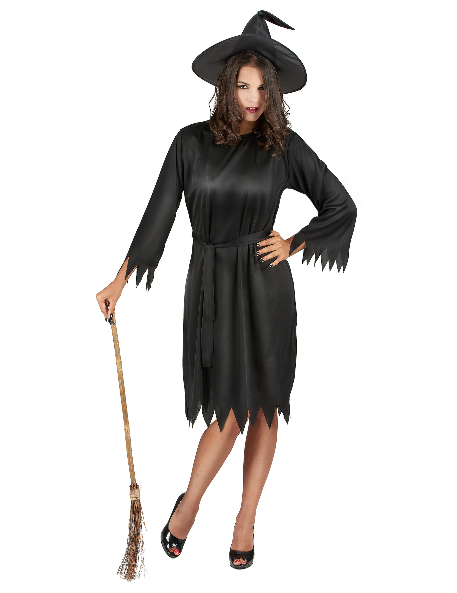 d guisement noir sorci re femme halloween deguise toi. Black Bedroom Furniture Sets. Home Design Ideas