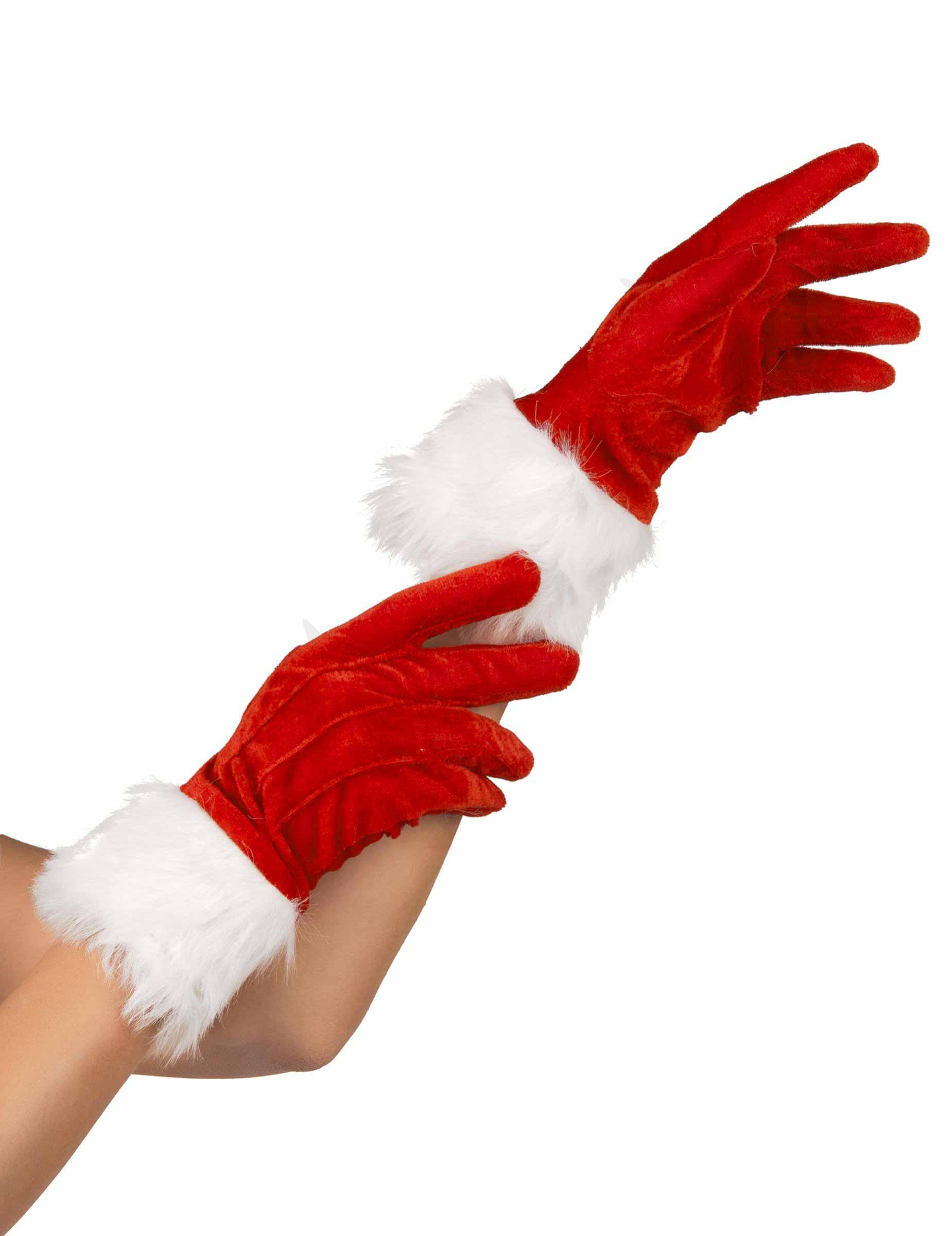 gants rouge avec fourrure blanche m re no l femme deguise toi achat de accessoires. Black Bedroom Furniture Sets. Home Design Ideas