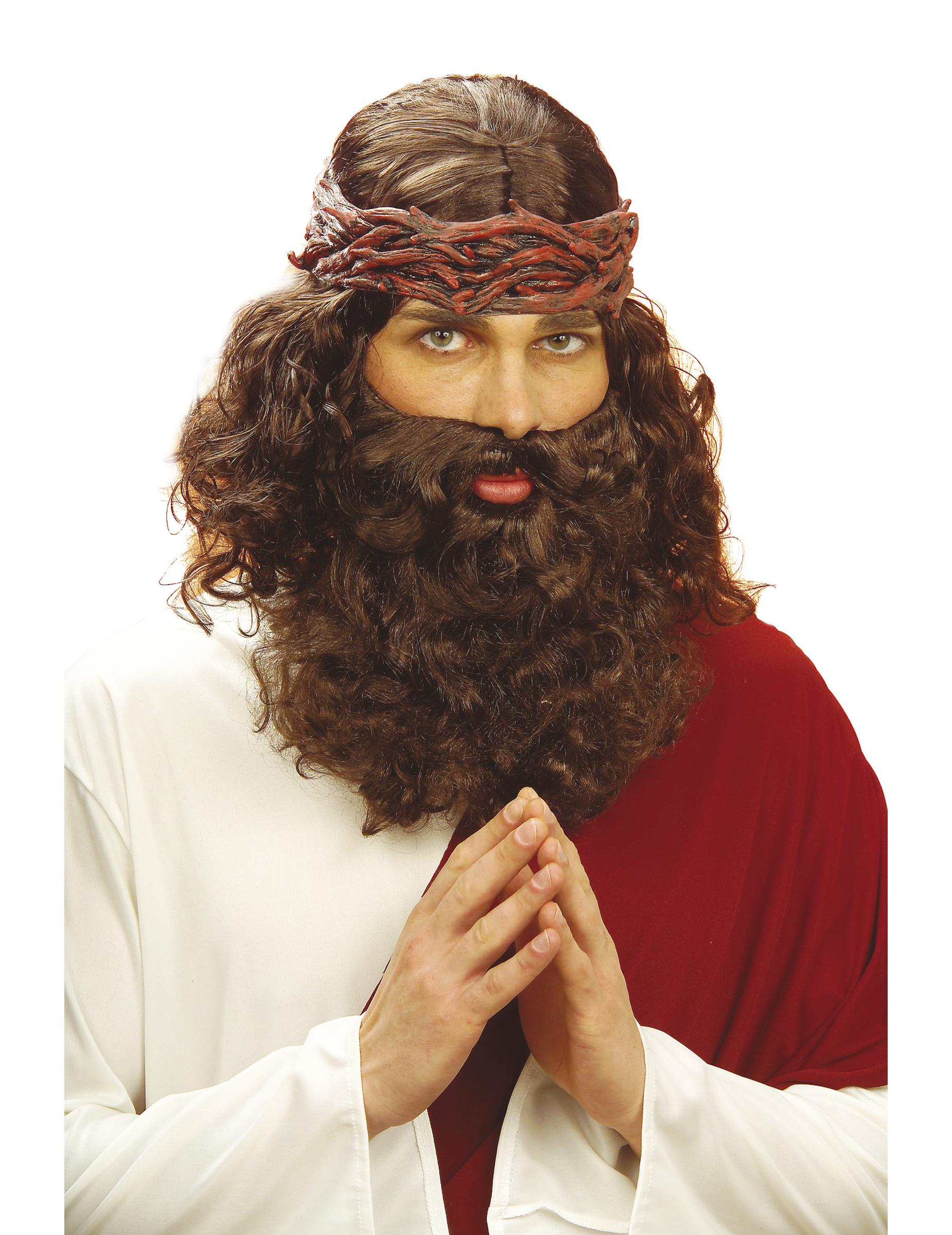 perruque avec barbe de proph te homme deguise toi achat. Black Bedroom Furniture Sets. Home Design Ideas