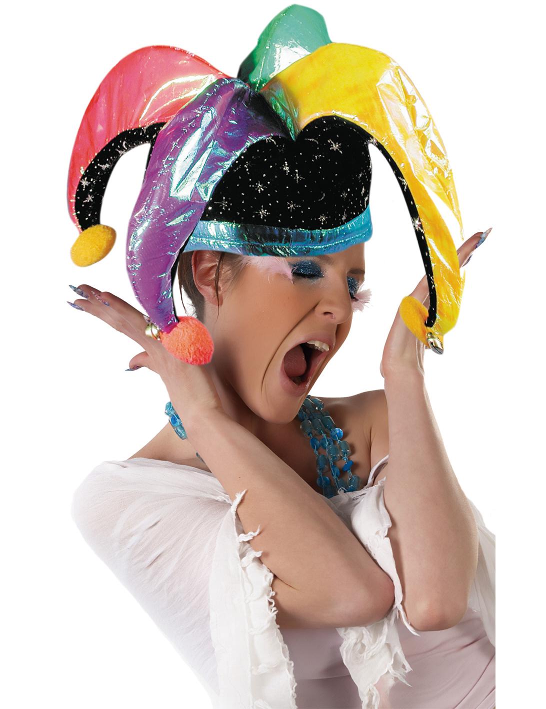 Cappello da giullare per adulti cappelli e vestiti di for Giullare da colorare