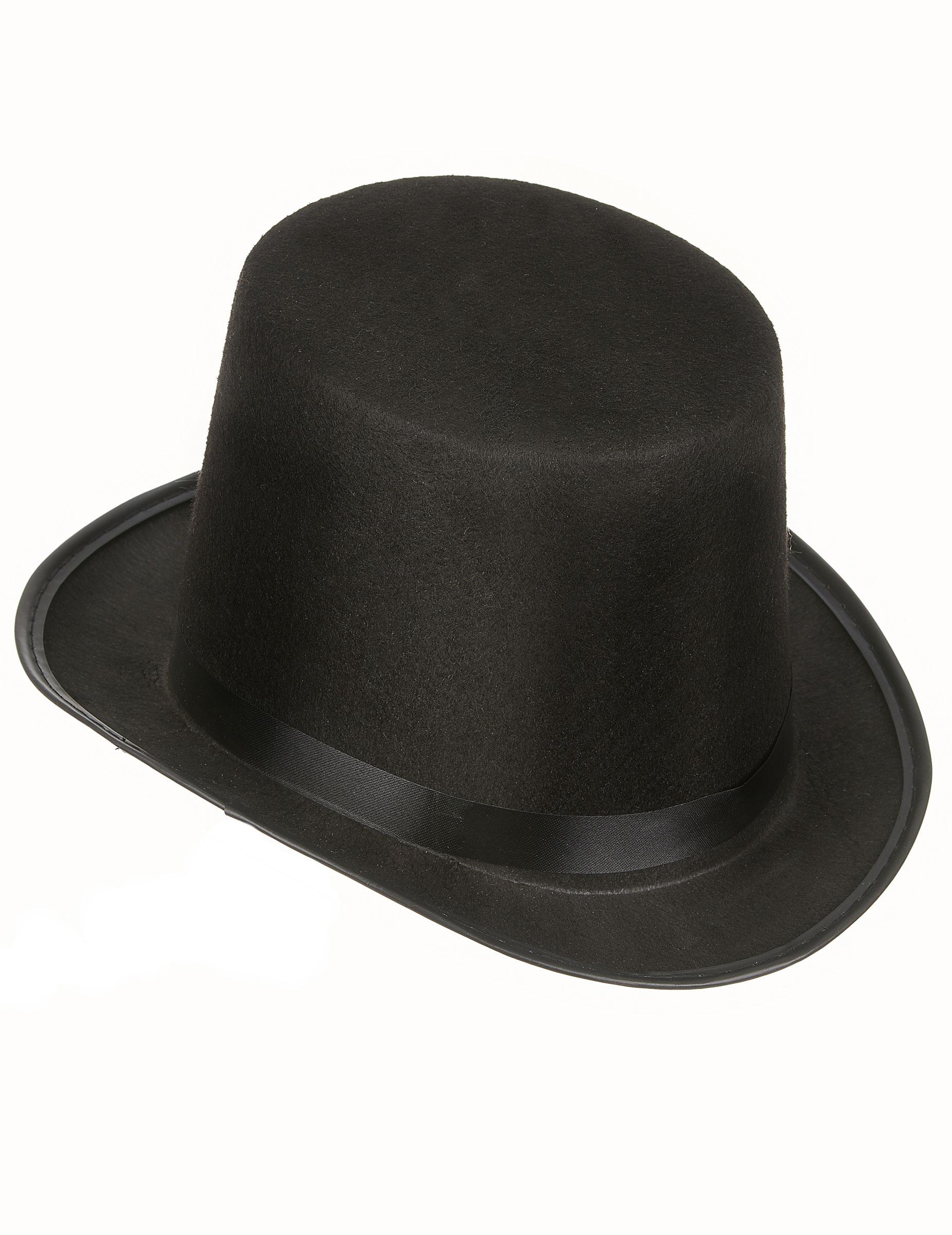 Taille Unique Chapeau Haut de Forme Noir Adulte DEGUISE TOI