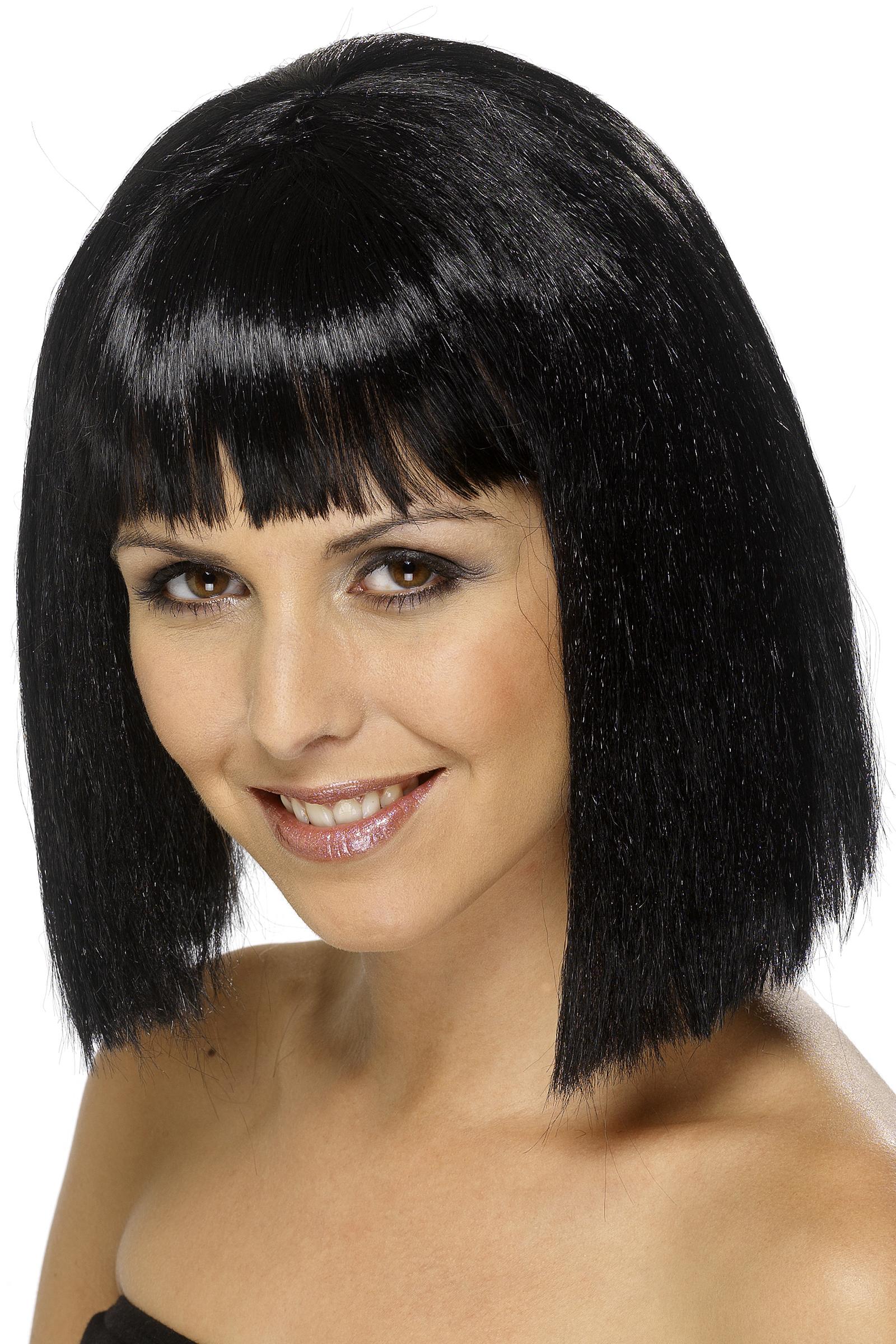 Perruque brune avec frange femme deguise toi achat de perruques - Carre court brun ...