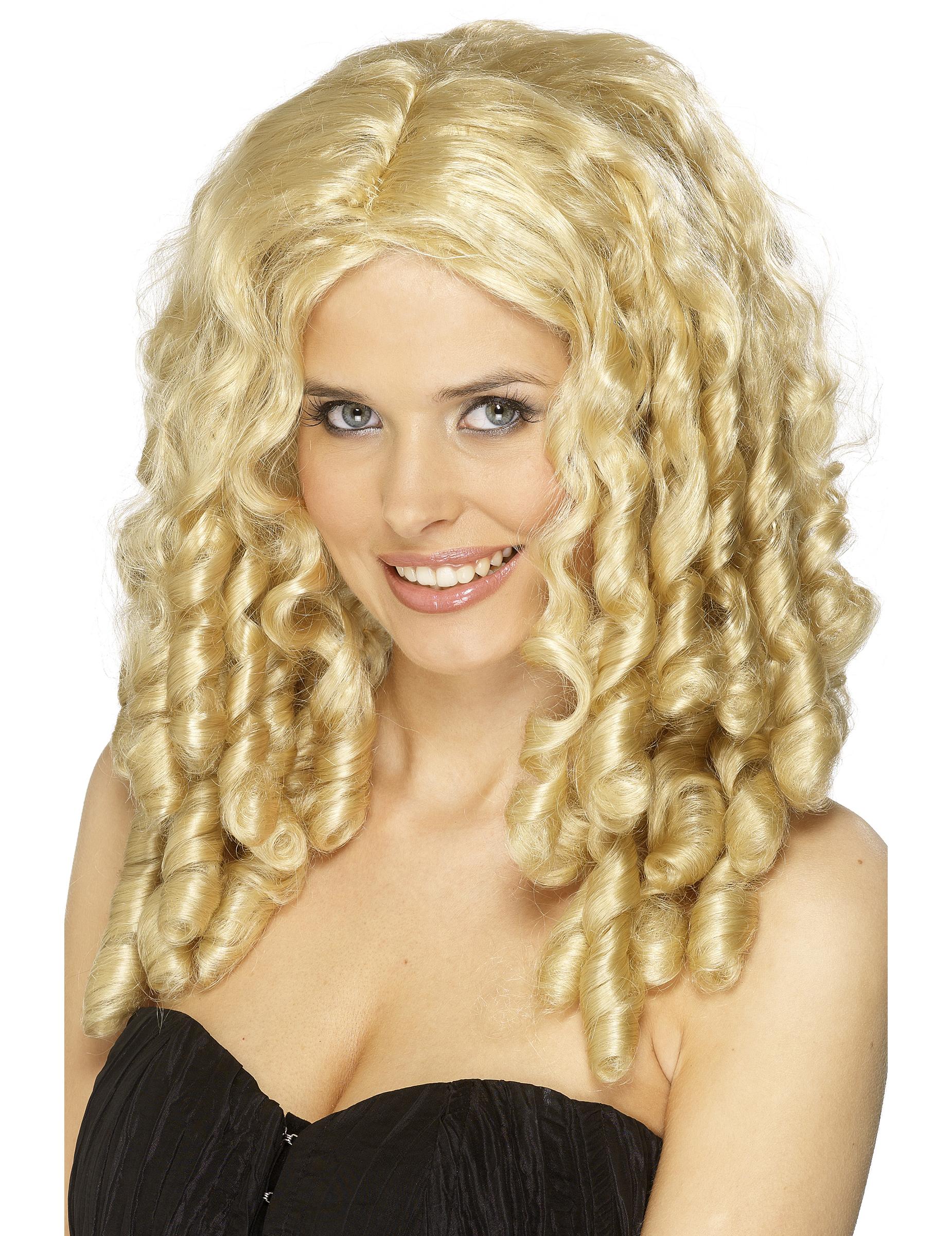 Perruque bouclée blonde femme : Deguise-toi,