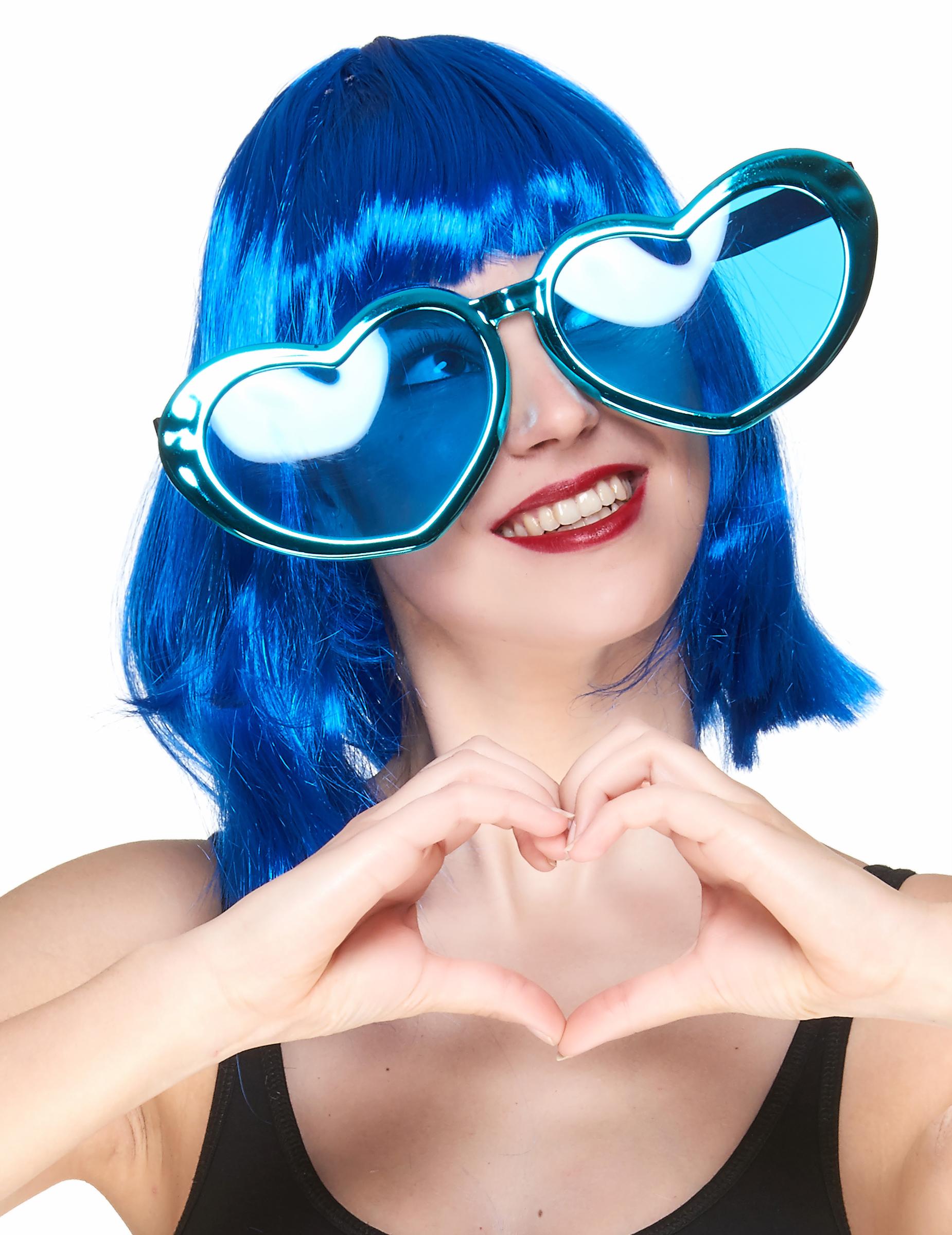 Lunettes géantes en coeur adulte   Deguise-toi, achat de Accessoires 1b6d414e6343