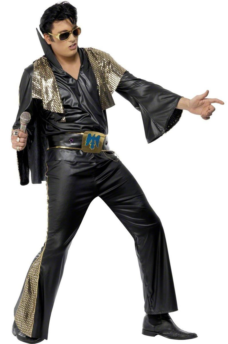 D 233 Guisement Elvis Presley Noir Et Dor 233 Homme Deguise Toi