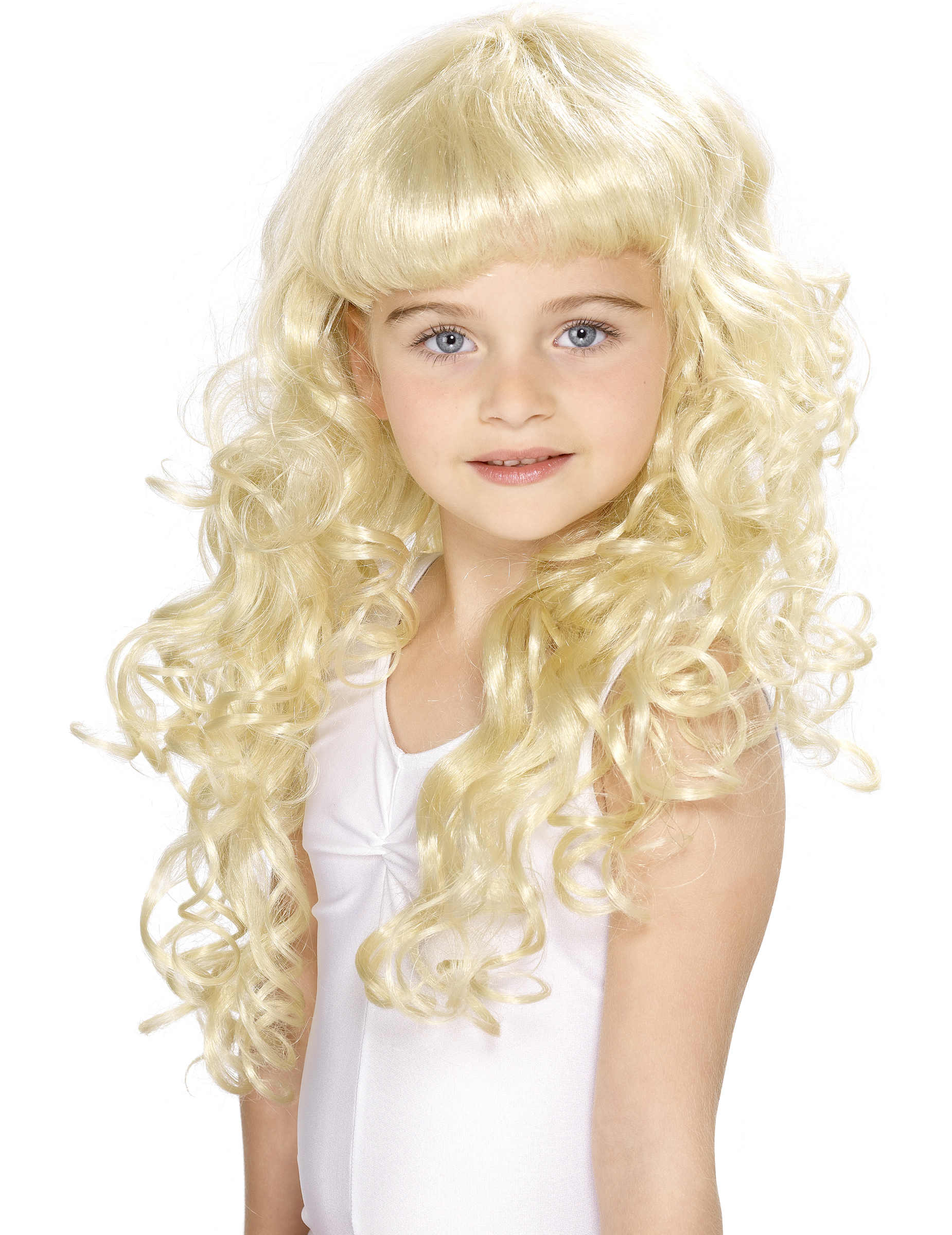 Perruque blonde de princesse fille : Deguise-