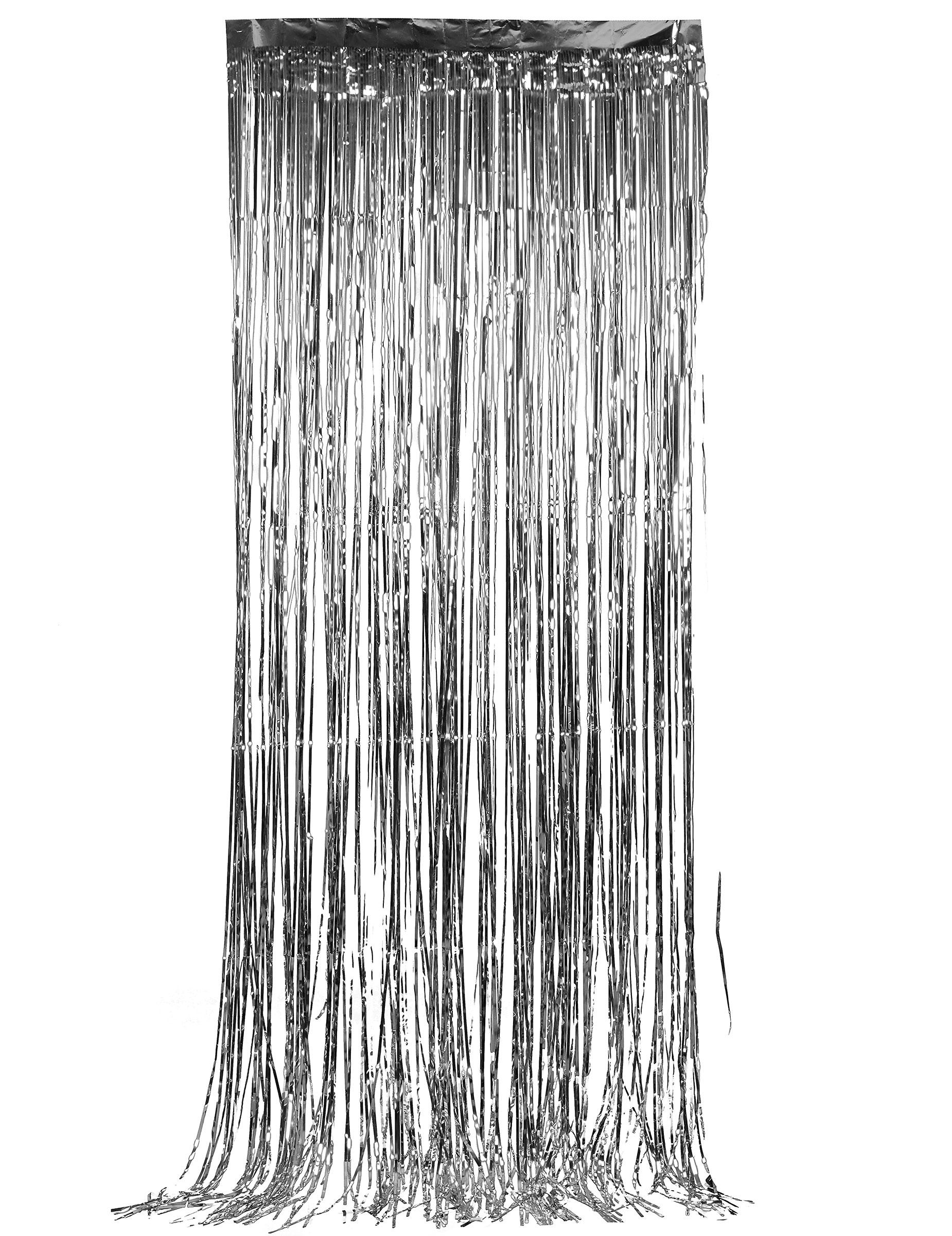 Rideau scintillant argent deguise toi achat de decoration animation - Rideau 160 de large ...