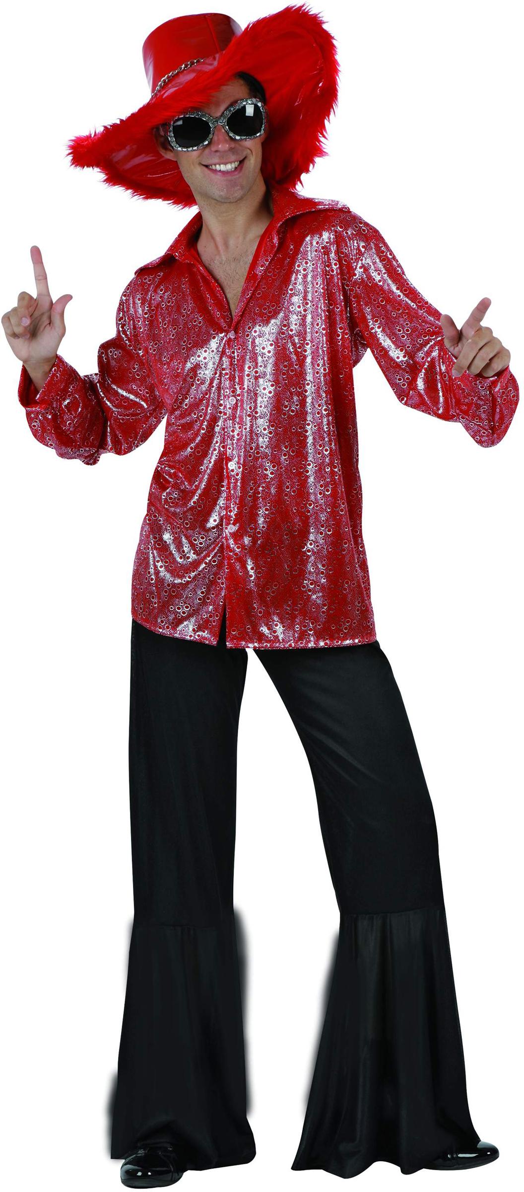 red and black disco costume for men. Black Bedroom Furniture Sets. Home Design Ideas