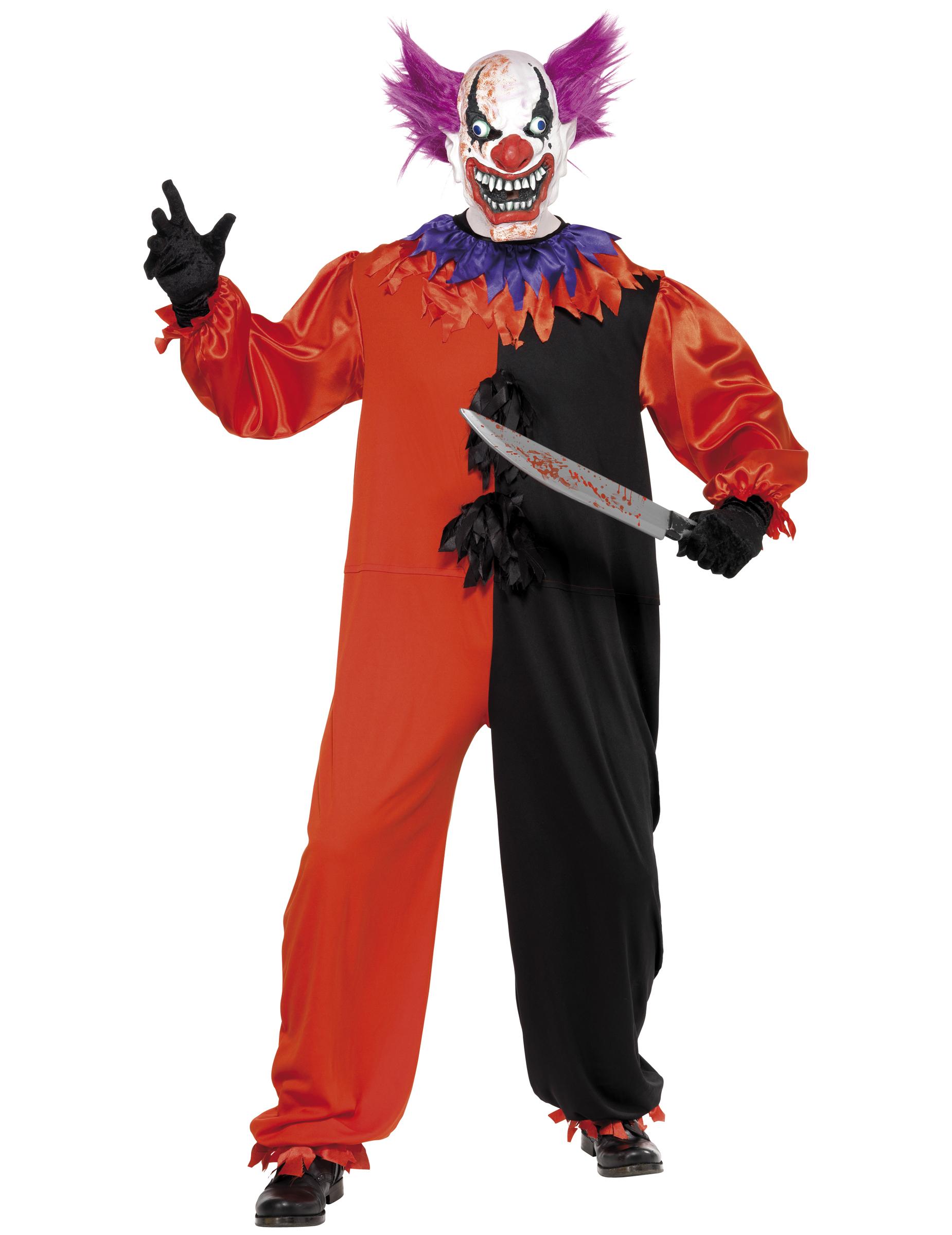 d guisement clown terrifiant adulte deguise toi achat de d guisements adultes. Black Bedroom Furniture Sets. Home Design Ideas