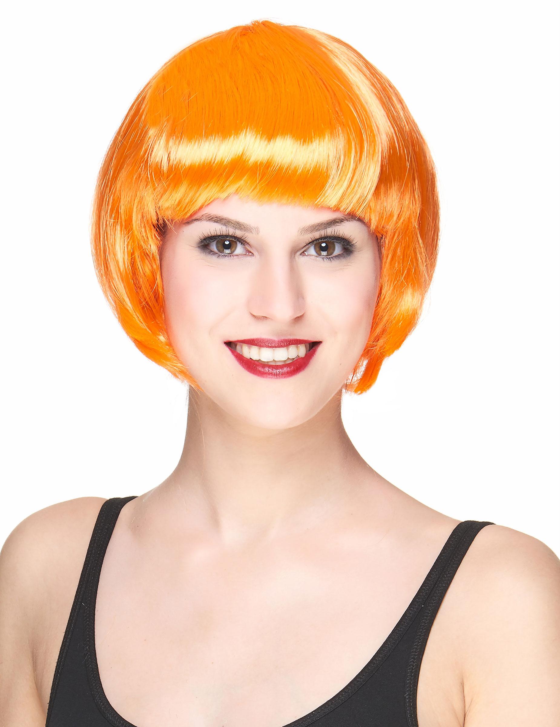 Perruque courte orange femme : Deguise-toi,