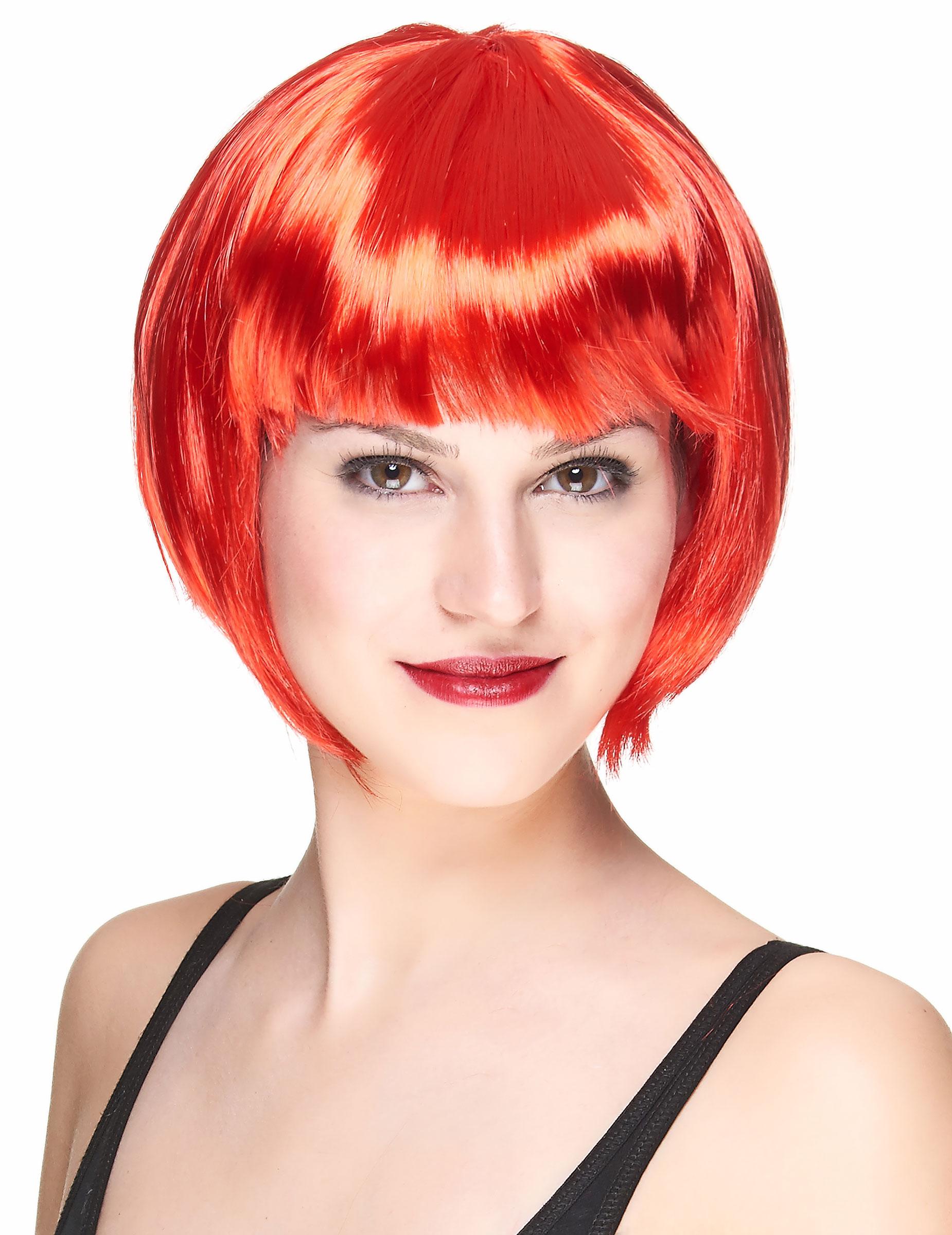 Perruque courte rouge femme : Deguise-toi,