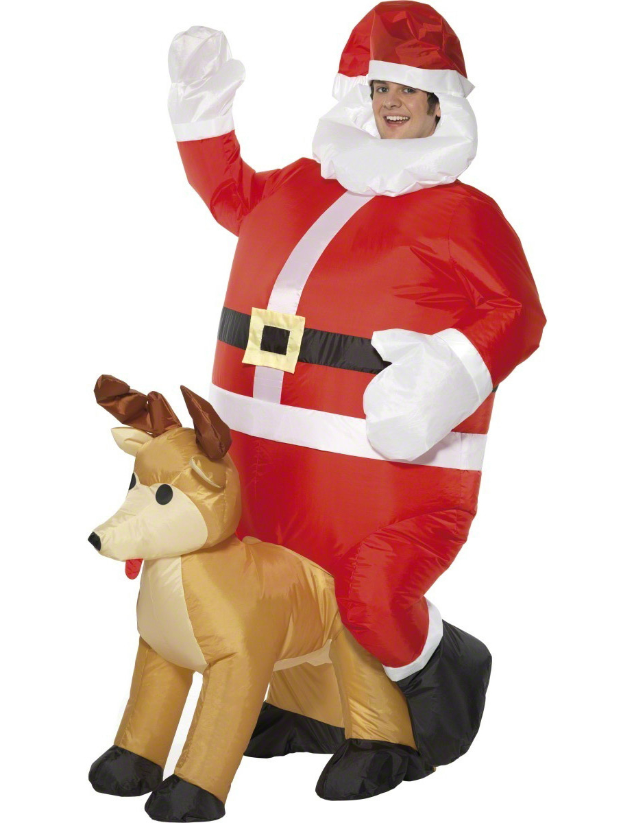 inflatable father christmas costume for men. Black Bedroom Furniture Sets. Home Design Ideas